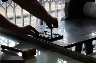 Our first letterpress workshop.